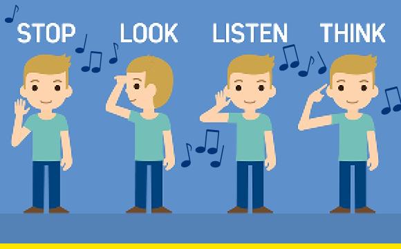 Stop look listen song